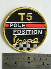 Vespa T5 Pole Position Patch - Embroidered - Iron or Sew On