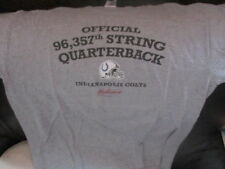 INDIANAPOLIS COLTS 96,357 Starting QB Grey T Shirt LG Budweiser Canada Promo