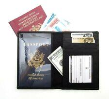 Ili New York Black Passport Travel Wallet Cover Credit Card Case ~ New