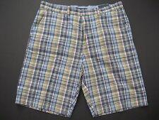 TOMMY HILFIGER Men's Classic-Fit Flat-Front Hamilton Plaid Dress Shorts 40