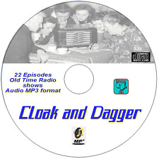 CLOAK AND DAGGER 22 Episodes OTR Old Time Radio -Spy, Espionage-  Audio MP3 CD