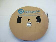 """Aplhawire Fit 221 1/4"""" Black Shrink Tubing 250'"""
