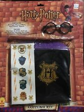 """Rubies Harry Potter Costume Kit. 40"""" Inch Cape, Wand, Glasses, Tattoos. 2000"""