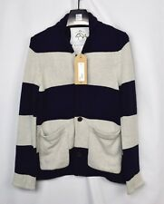 New Brooks Brothers BLACK FLEECE THOM BROWNE Color Block Cardigan Sweater BB0 XS