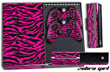 Designer Skin for XBOX ONE 1 Gaming Console+2 Controller Sticker Decal ZEBRA PNK