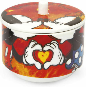 YOU COMPLETE ME Zuckerdose rot Mickey & Minnie EGAN Porzellan Made in Italy