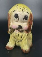 Vintage Ceramic Sad Eyed Puppy Dog Indoor Planter