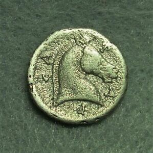 Thessaly, Pharsalos, AR Hemidrachm, 400-344 BC, Athena / Horesehead, VF