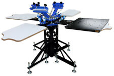 3 Color  4 Station 1 Dryer Screen Printing Press Rotary Printer Economy Price