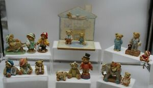 Bundle Of Cherish Teddies Ornaments Collectable Boxed