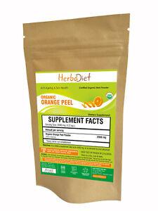 Organic Orange Peel Powder Citrus Sinensis Skin Whitening Lightening Support
