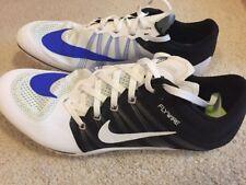 NWOB Nike Zoom Ja Fly 2 Track Spikes Men's 13 White Blue