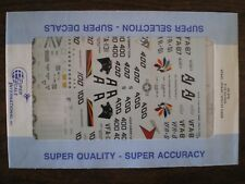 1:48 Super Scale Decal  F-18 HORNETS  VFA-81,  VFA-87,  VFA-131  CAGS