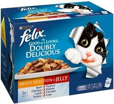 Felix As Good as it Looks Doubly Delicious Meat in Jelly Pouch 12x100g
