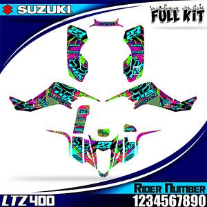 PREMIUM suzuki ltz 400 kawasaki kfx 400 decals graphics stickers FULL KIT 03-08