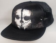 ACTIVISION Call Of Duty Ghost COD Logo Snapback Flat Billed Baseball Cap Hat