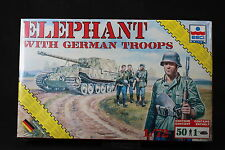YD026 ESCI 1/72 maquette tank char 8621 Elephant with German Troops rare version
