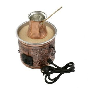 Authentic Turkish Copper Electric Hot Sand Coffee Maker Heater Machine 110V-220V