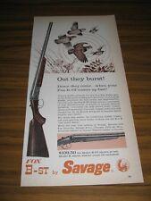 1960 Print Ad Fox-B-ST & Model B Shotguns by Savage Chicopee Falls,MA