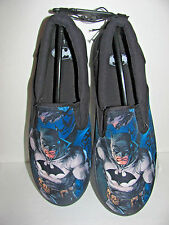 ADULT MENS CANVAS SLIP ON  SNEAKERS/SLIPPERS WITH BATMAN BY DC COMICS