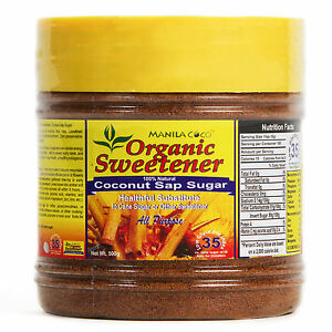 Organic COCONUT SAP SUGAR Manila Coco 500g LOW GI-35: Better on Cereal Beverage