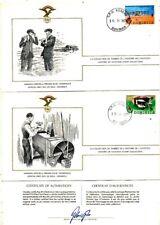 TIMBRE STAMP 3 FDC AVION HISTOIRE AVIATION FEDERATION AERONAUTIQUE DOMINICA