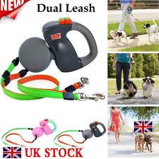 Retractable Pet Dog Double Lead Leash Tangle Dual 2 Dog 50 Pounds Per Dog