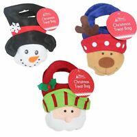 Christmas Felt Treat & Gift Bag Kids Children Xmas bags Santa/Reindeer/Snowman