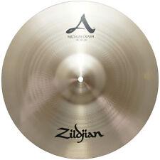 "Zildjian A0242 18"" Medium Crash Cast Bronze Drumset Cymbal High Pitch - Used"