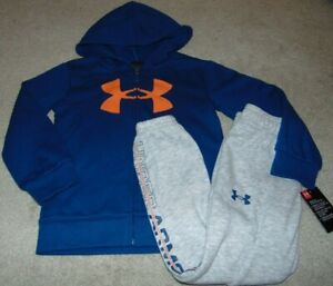 ~NWT Boys UNDER ARMOUR Zip-Up Hoodie Outfit! Size 5 Nice:)!