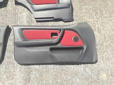 BMW E36 Compact Door Cards / Red Front & Rear