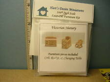 Miniature Dh/Dh Victorian Nursery Room Furniture Kit #A1 (3 Pc) 1/144th Scale