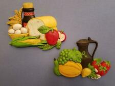 Home Interior Fruit Plaque's - #7381 #7382. Set of Two