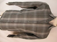 Zanella Mens Grey Plaid Long Sleeve Shirt M Italy Made