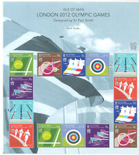Isle of Man- 2012 London Olympics special sheetlet mnh