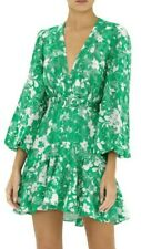 Alexis Neala Floral Flounce Green Dress Size L