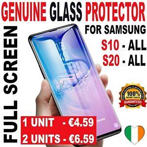 Samsung S20 FE S10 GENUINE GLASS Plus + S10E S9 Note 9 Tempered Screen Protector