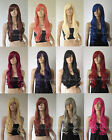 28'' Heat resistant Curly wavy Long Cosplay Wig All Color Free Shipping