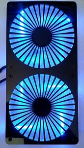 Custom Turbine 240mm Radiator double 120mm Fan Grill Computer Case Cooling Mod