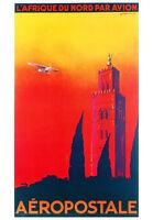 VINTAGE TRAVEL AFRICA POSTER AEROPOSTALE AFRIQUE DU NORD African Art Print 28x40