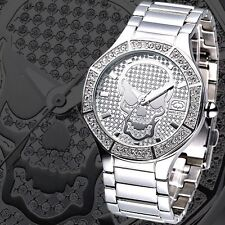 MARC ECKO MEN'S SKELETOR SKULL FACE SILVER DIAL WATCH E11544G1