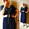 Vtg 80's DAISY Carole Little Prairie FLORAL REVIVAL drape Rayon Boho MAXI Dress