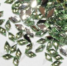 100 Bijoux d'Ongles Strass Nail Art LOSANGES Vert Opale