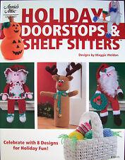 Holiday Doorstops & Shelf Sitters Crochet Project Book New