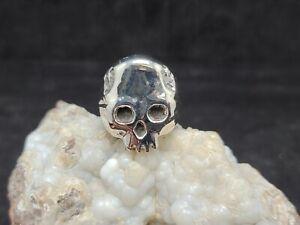 Sterling Silver 925 Signet ring,heavy skul ring, new, size 10.5, skull ring