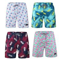 Beautiful Giants Men's Hawaii Style Mesh Lining Beach Wear Shorts Swim Trunks