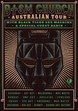 "BLACK TIGER SEX MACHINE /DABIN ""BTSM CHURCH AUSTRALIAN TOUR"" 2016 CONCERT POSTER"