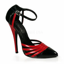Domina-412 Devious Damen Stiletto High-Heels Orsay Pumps schwarz rot Lack 35-45