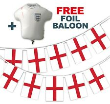Football World Cup 2018 Set - England Flags - bunting + free foil balloon