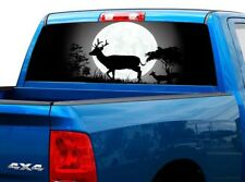 P440 Deer Buck Rear Window Tint Graphic Decal Wrap Back Pickup Graphics